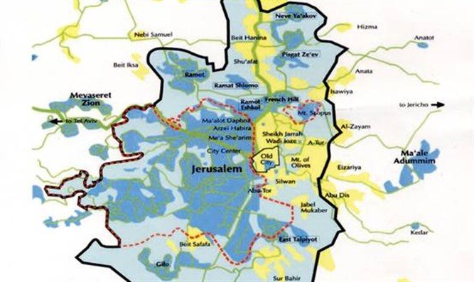 Jerusalem is in serious trouble and barkat is ignoring it israel jerusalem demographic map gumiabroncs Image collections