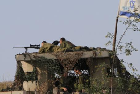 IDF outpost near Gaza
