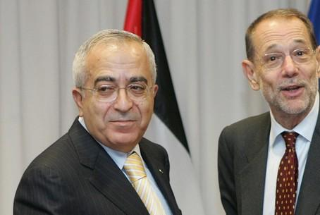 Fayyad with Solana of the EU
