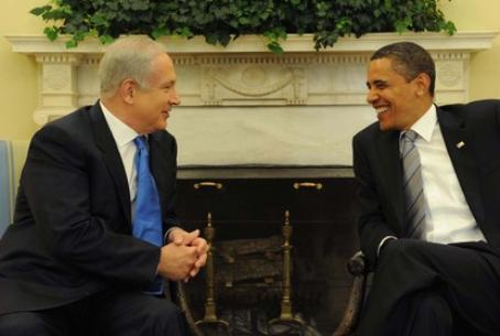 Obama (right) with Netanyahu