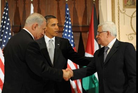 Netanyahu, Obama, Abbas in the past
