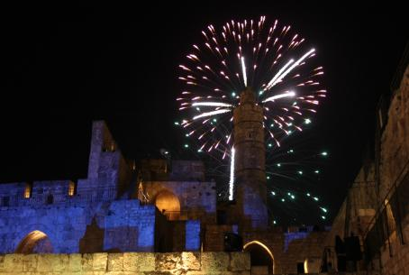 Fireworks in Jerusalem