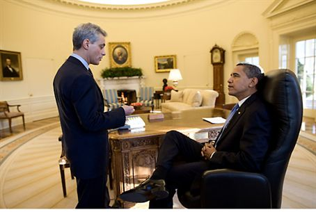 Rahm Emanuel and President Obama