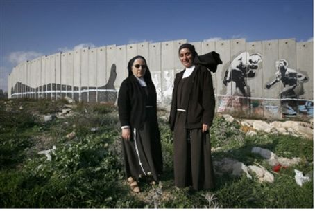 Nuns from Bethelehem protest security fence