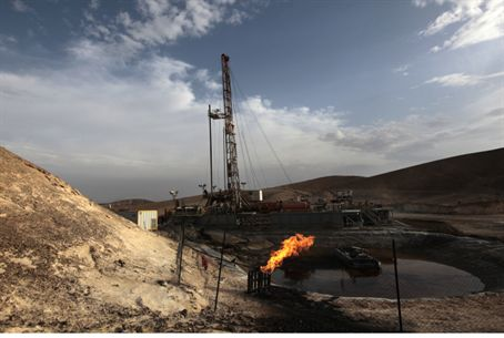 Drilling for oil in southern Israel