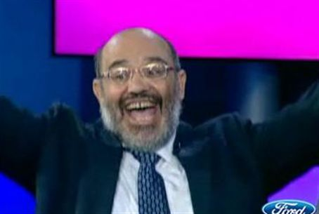 Moshe Abu-Aziz in one of his happier moments
