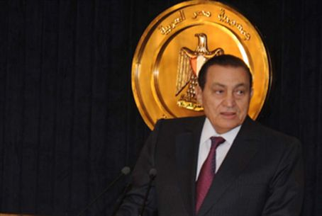 Mubarak. Protesters call for ouster.