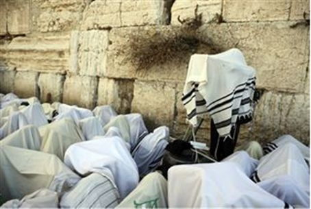 Priestly blessing at the Western Wall (Kotel)