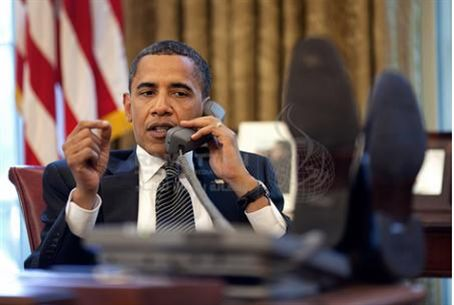 Obama speaking to Netanyahu