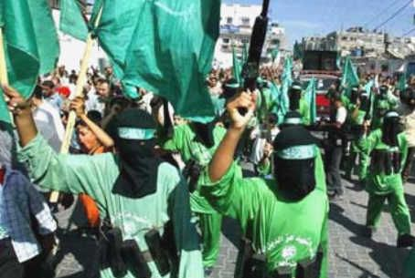 Hamas forces in Gaza