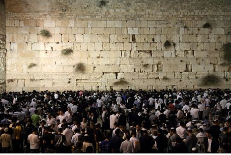 A section of the Jewish People at the Kotel.