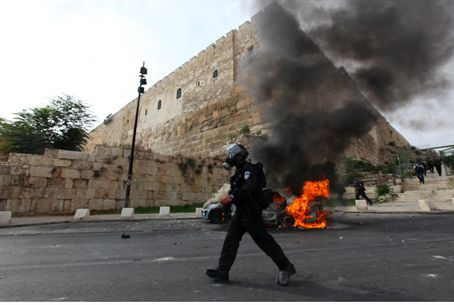 Policeman at Jerusalem riot