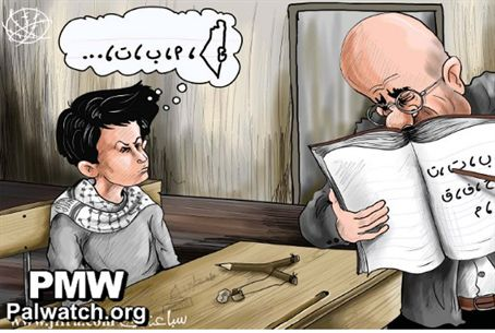 Cartoon seen in PA (Fatah) newspaper Oct. 19