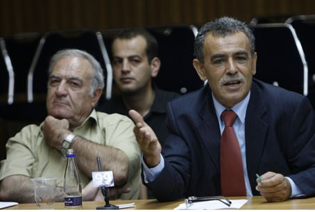 Zahalka (right) in the Knesset