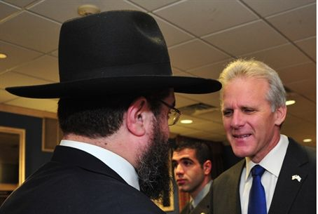 Israel Ambassador Michael Oren and friend