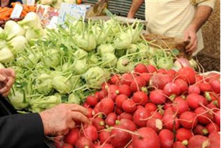 Vegetable prices rose in December