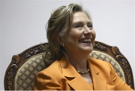 Hillary Clinton in Ramallah (file)