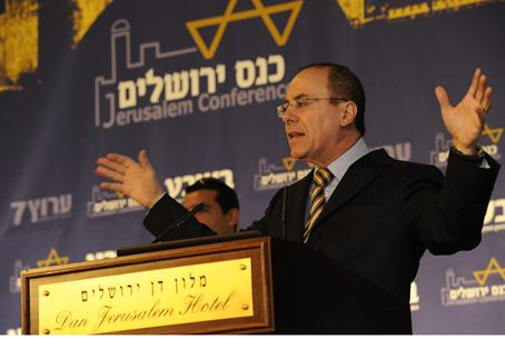 MK Silvan Shalom at Jerusalem Conference