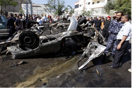 Car in which Hamas terrorist was killed (file
