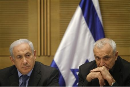 Netanyahu and Aharonovich (file)