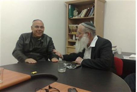 MK Matalon with Rabbi Elyakim Levanon