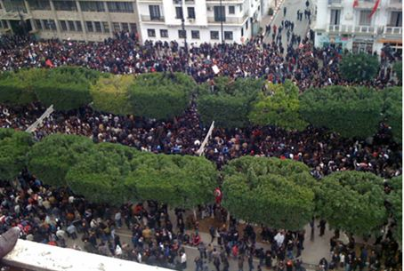 Tunisia unrest in the capital (January 2011 a