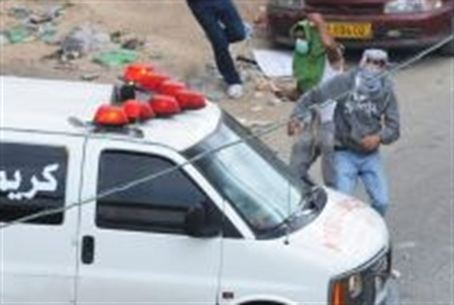 Arabs use ambulance for cover.