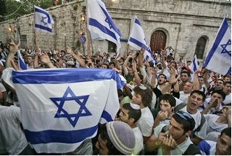 Flag dance on Jerusalem Day (archive)