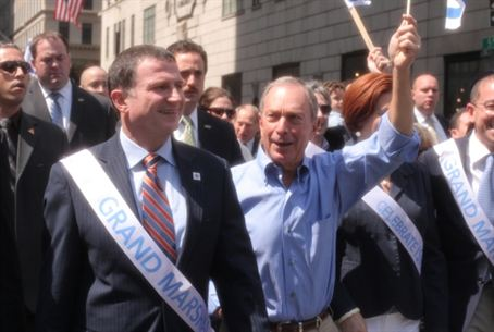 Edelstein and Bloomberg at Parade