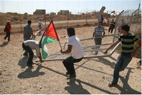 Violent Protestors in Bil'in