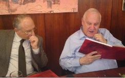 MKs Eldad and Rivlin Reading the Haggadah
