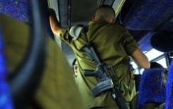 Soldier on bus (illustrative)
