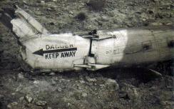 Remains of the ''Yasur'' helicopter