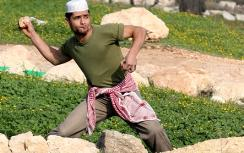 Rock-throwing Arab