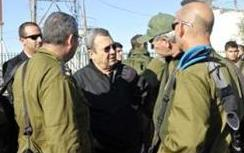 Defense Minister Barak in Yesha