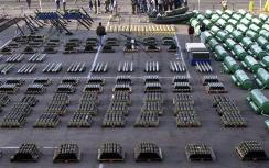 Captured weapons bound for the Hizbullah