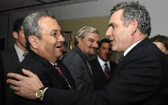 Barak with British PM Gordon Brown