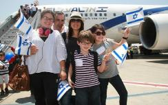 New immigrants arriving in Israel