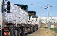 Aid supplies delivered through Kerem Shalom