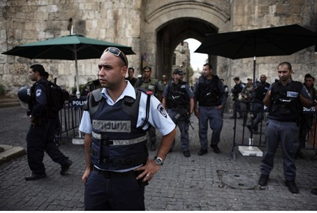 Police on duty in Jerusalem