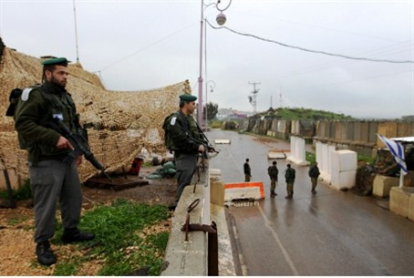 IDF patrol at Lebanese Border