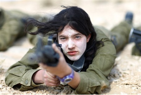 (Illustration) Female IDF soldier