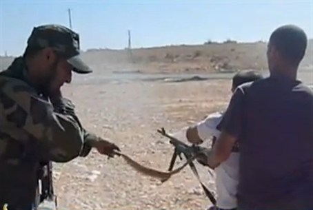 NTC rebels fighting in Bani Walid