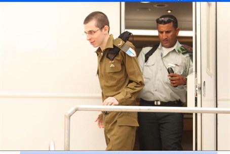 Shalit in uniform Tuesday