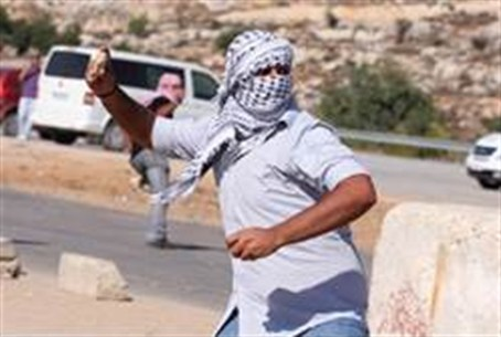 Rock throwing by Arabs