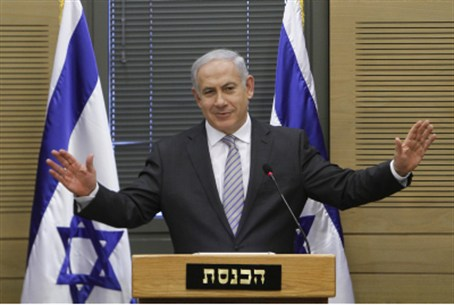Netanyahu at Likud meet (file)