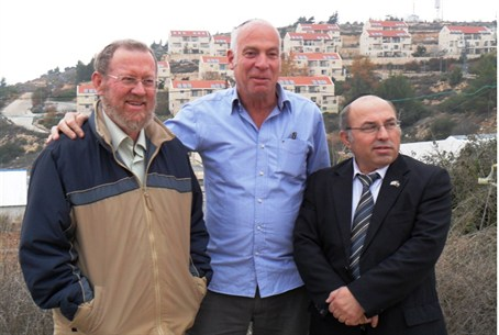 MK Michael (right) in Beit El