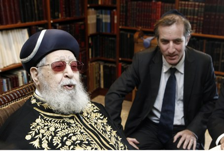 Rabbi Ovadia Yosef and Christophe Bigot