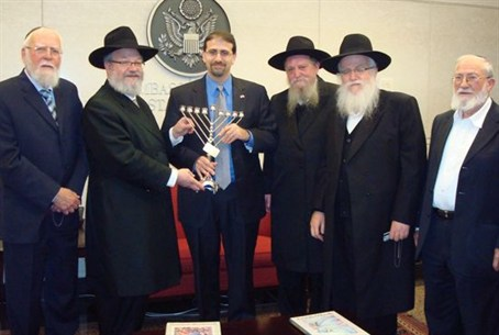 Rabbis with Ambassador Shapiro