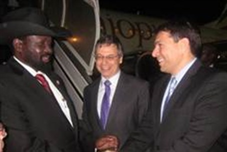 S. Sudan president Ki'ir a arrives in Israel